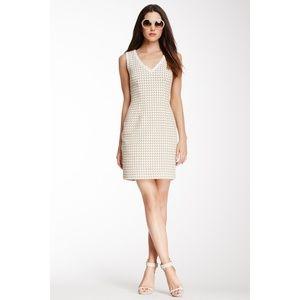 Trina Turk Houndstooth Lissome Cotton Sheath Dress